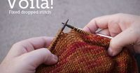 Fix Dropped Stitches in Knitting - not knowing how to do this is what keeps me from learning to knit!