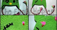 I soooo wish I could crochet .. my daughter would love this!!! Ravelry: Zombie Kat Hat pattern by Crystal Lowder