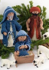 Make your very own Jesus, Mary, and Joseph this year with this Crochet Nativity Set. It's an intermediate crochet pattern by Red Heart Yarn that will add the pe