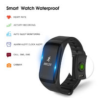 F1 Smart Wrist Watches Heart Rate Blood Pressure Oxygen Monitor Pedometer IP67 Waterproof Watch