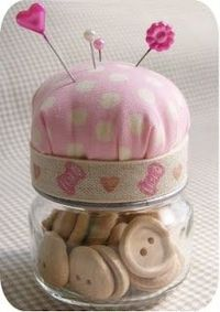 tutorial - baby food jar pincushion