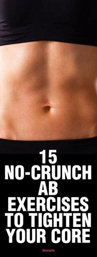 Save your neck (and time), and try some of these no-crunch ab exercises. They're more effective and target all the muscles in your core!
