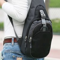 Hot Unisex Nylon Chest Bags Travel Crossbody Bag Men Women Shoulder Messenger Bags BVN66 $22.44
