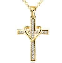 Stainless Steel Heart Jacket Crucifix £16.95
