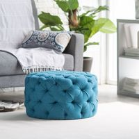 Belham Living Allover Tufted Round Ottoman - Teal - Perhaps if Little Miss Muffet had had a Belham Living Allover Tufted Round Ottoman - Teal instead of that silly tuffet, she would've stayed inside whe...