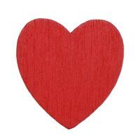 Pack of 100 Mini Wood Red Heart Stickers. Craft, Scrapbooking, Cardmaking & Decorating. 13mm x 18mm £7.99