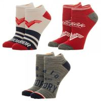 Wonder Woman Women's Ankle Socks 3 Pack $12.00 https://costumecauldron.com