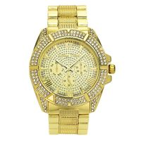 Men's 18k Gold or Silver Plated Iced Out Hip Hop Bling Watch Various Styles £9.95