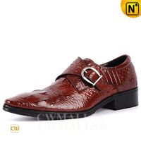 CWMALLS® Embossed Leather Monk Strap Shoes CW707501
