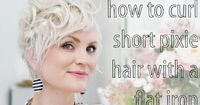 """How to Curl Pixie Hair """"I love the way she styles her pixie. She has many different ways that has helped me continue to style my pixie:)"""""""