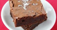 Salted Fudge Brownies: sea salt, all-purpose flour, unsweetened chocolate, unsalted butter, white sugar, unsweetened cocoa powder, vanilla extract, large eggs, unsalted butter, unsweetened chocolate, unsweetened cocoa powder, white sugar, large eggs, vani...
