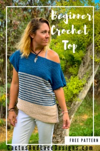 A beginner friendly crochet tee