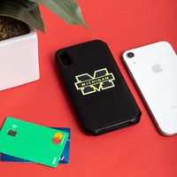 Michigan Wolverines iPhone X Xs Wallet Phone Case And Card Holder $29.99