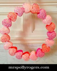Make a Heart Box Valentine Wreath
