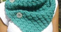 Button Up Cowl Neckwarmer Scarf in Teal - Bamboo Wool Blend $42.00 #MegansMenagerie on etsy