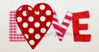 Valentines Day LOVE word Embroidery Design Machine Applique. With your purchase you will receive the applique in 3 sizes: 4X4, 5X7, and 6X10