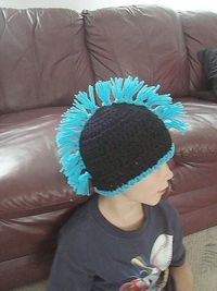 CROCHET PATTERN hat cap, Mohawk, boys hats, number 234 newborn to adult. ok to sell your hats. $2.49, via Etsy.