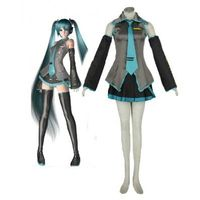 Vocaloid Super alloy Hatsune Miku Anime Cosplay Costume