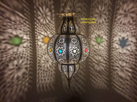 Small Handmade Hanging Copper Brass Ceiling Lamp, Moroccan Modern Pendant Lampshade Lighting $125.00