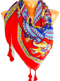 Scarf, Elephant Printed Scarf, Elephant Patterned Scarf, Shawls, Scarves, Lightweight Summer Scarf, Gifts for Mothers Day, for Christmas $17.00