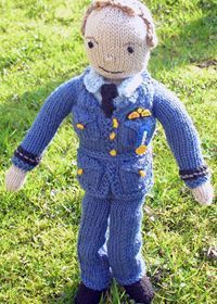 How did we miss these last year? Free Patons knitting pattern: royal wedding doll, Prince William