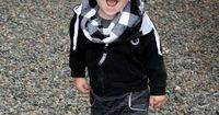Mad for Black Cozy Hood. Adorable model too!