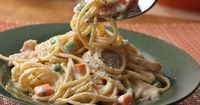 In a pinch for dinner? Hot cooked spaghetti combines with frozen peas and carrots, Alfredo sauce, turkey and Parmesan cheese for a simple but delicious dish that's perfect for busy weeknights. Try it this week, you willenjoy the results!