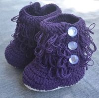 #BabyGifts #HolidayShopping #CrochetBooties Purple Crochet Booties Crochet Baby Booties by BabyGirlsGlam, $14.99 Order by 12/1 to ensure delivery by 12/23