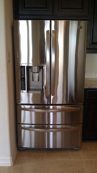 How to clean Stainless Steel...for real! I use Dust & Allergen Pledge along with a Microfiber clean cloth (thanks to a recommendation from a friend) to clean my Stainless. I find that it works much better then any Stainless Steel cleaner I hav...