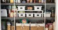 Keep your pantry organized - love the baskets for the pantry...could use baskets like drawers since my pantry is a useless depth and things go in the back to die