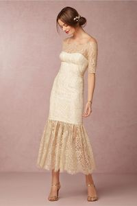 gold lace wedding dress   Mia Dress from Notte by Marchesa for