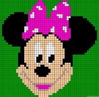 bead patterns, minnie mouse and mice.