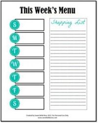 Meal and menu planner free printable