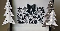 Black and White Christmas Shadow Box made with Cricut Explore -- Ameroonie Designs. #DesignSpaceStar Round 4