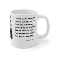 Ceramic Famous Quote Mug, Graphic & Saying -What Would Congress Have Done? This 11oz. mug makes a great forever gift!