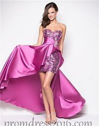 Purple A Line Strapless High Low Homecoming Dress cheap