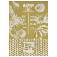 De Saison Fruits Mustard Tea Towels by Le Jacquard Français $100.00