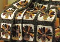 "Free pattern for ""Thanksgiving Turkey Afghan""...gobble, gobble!"