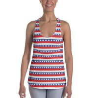 """Exclusively from And Above All YOGA --- """"America"""" Women's Racerback Tank Top Made to Order for just $38.95 with FREE SHIPPING"""