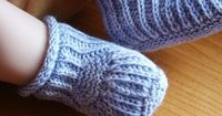 Free Baby Boy Knitting Patterns | Easy Knit Cable Bootie Pattern | Raising Olives