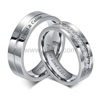 Custom Titanium Couples Wedding Bands Set 6mm https://www.gullei.com/custom-titanium-couples-wedding-bands-for-2.html