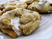 The BEST cookies you will make this year: Campfire S'more Cookies