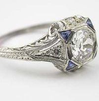 vintage jewelry | Estate and Antique Jewelry, Vintage Rings | Topazery. Love this ring!