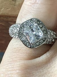 A Perfect 2CT Cushion Cut Halo Russian Lab Diamond Engagement Ring $139.00
