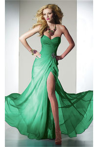 Prom Dresses Sequins Sweetheart Ruffles Floor Length Chiffon Sleeveless