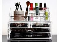 HQdeal Makeup Organizer Luxury Cosmetics Acrylic Clear Case Storage Insert Holder Box with Draws No description (Barcode EAN = 0613533211135). http://www.comparestoreprices.co.uk/beauty-products/hqdeal-makeup-organizer-luxury-cosmetics-acrylic-cle...