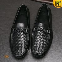 CWMALLS Black Leather Penny Loafers CW706163