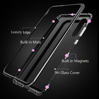 Xiaomi Redmi Note 8 Case Bakeey Magnetic Adsorption Metal Tempered Glass Flip Protective Case for Xiaomi Redmi Note 8