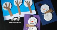 "Snowman and snow scenery �€"" decoration for small kids"