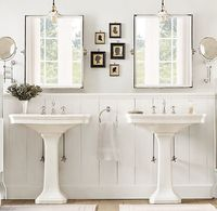 Park Pedestal Sink #bathroom #bath #mirror